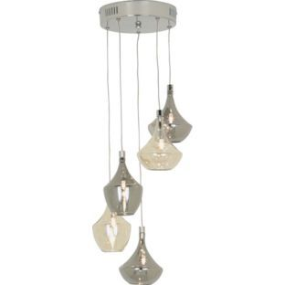 Buy Heart Of House Amber 5 Light Ceiling Fitting At Argos Co Uk