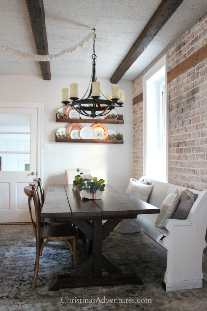 Vintage Inspired Farmhouse Dining Room Makeover Reveal  Farmhouse Prepossessing Chandelier Dining Room 2018