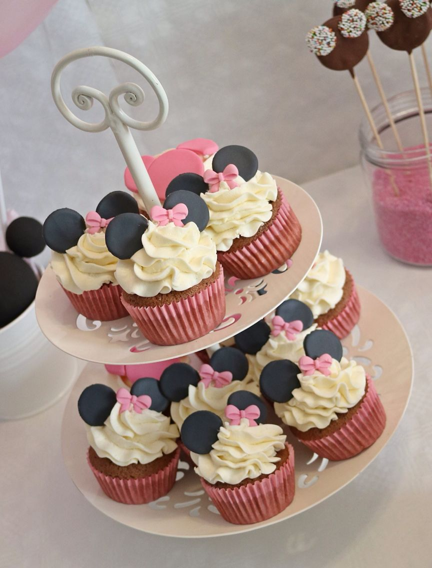 Minnie Maus Küche Minnie Maus Theme Party Cupcakes Cake Pops Cake Desserttable