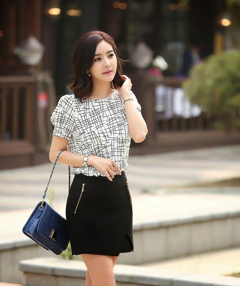 Modelos de faldas coreanas 2014 para mujeres 8 jpg 796 - Modelos de faldas de moda ...