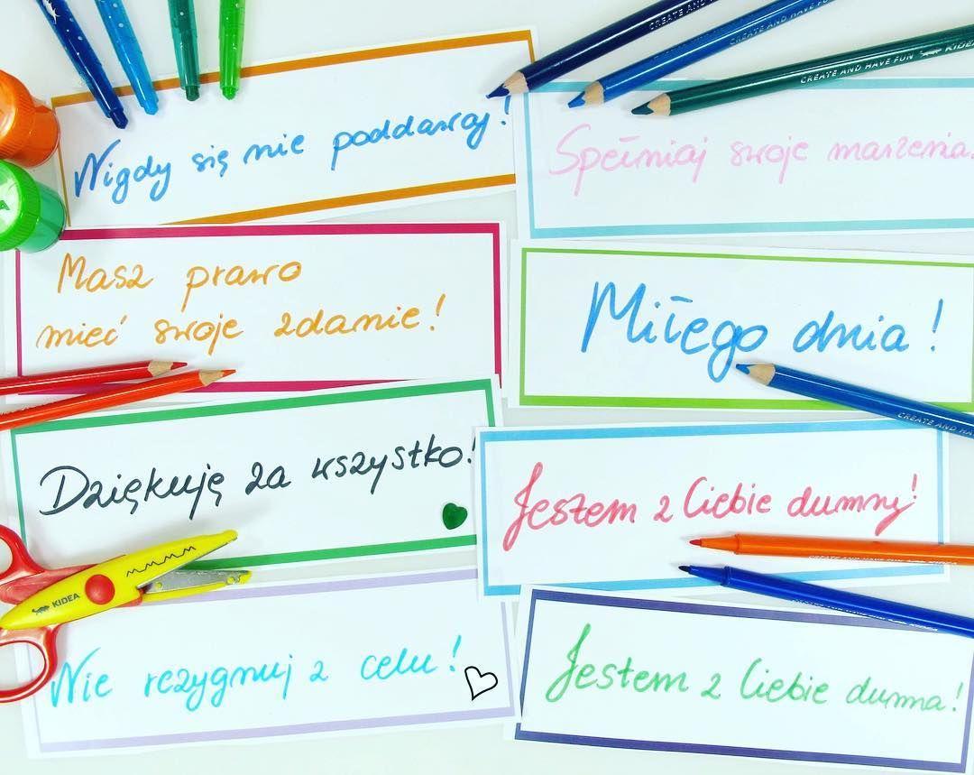 Zobaczcie Jaki Fajny Pomysl Znalazlam Na Kidea Pl Karteczki Motywacyjne Dla Dzieci Genialne W Swej Prostocie Motivation M Bullet Journal Journal
