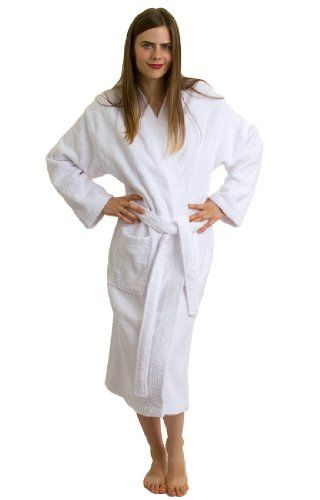 Amazon.com  TowelSelections Turkish Terry Kimono Bathrobe - 100% Egyptian  Cotton df60c2b94