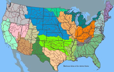 What If We Had Watersheds Instead Of States GeoLiteracy - Watershed map of us