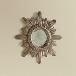 Small Spanish Starbust Mirror #modernhistory #interiors #design #homedecor #interiorhomescapes #interiorhomescapes.com