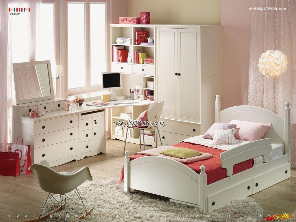 white girl bedroom furniture.  Girl White Kids Bedroom Furniture For Girl I