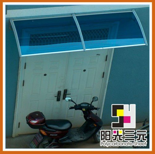 Assembled by Plastic Bracket and PC sheet.Can be installed above doors ,windows ,air conditionersEasy DIY &10-year warranty