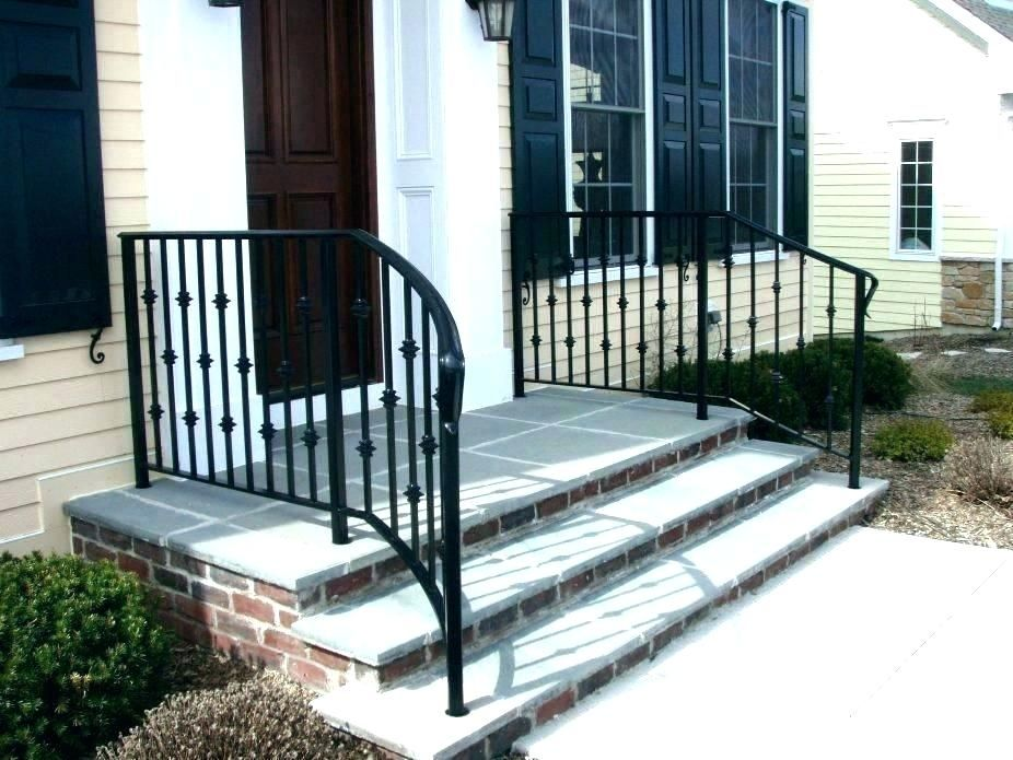 Front Step Ideas Front Steps Railing Ideas Front Door Step