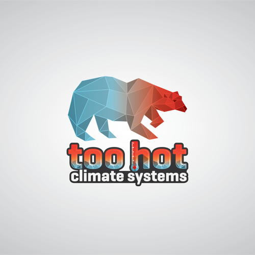 Too Hot Climate Systems Heating Cooling Logo And Icon With