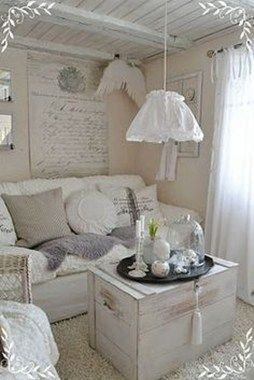 20+ Awesome Shabby Chic Living Room Decorations Ideas