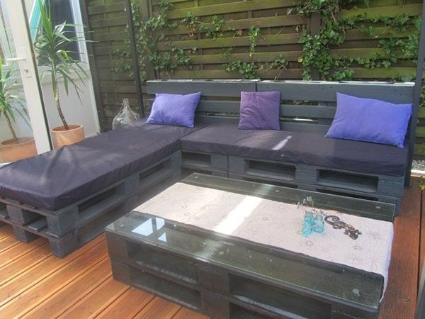 Die 10 coolsten Sitzmöbel aus Euro-Paletten Sofa hocker, Outdoor - lounge ecke garten selber bauen