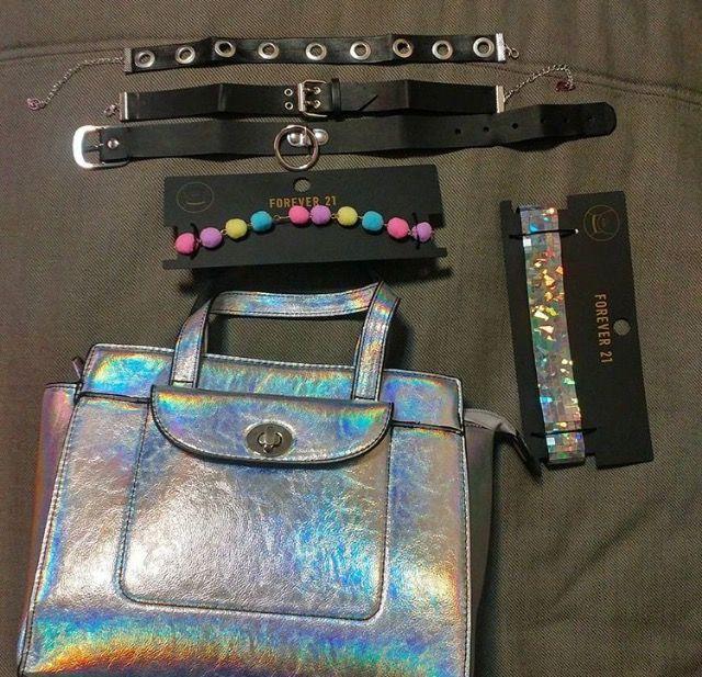 H💿L💿 fσℓℓσω fσя мσяє   нσ∂αуαвє13 -  holo  holographic  rainbow  bag   style  mood  color  tumblr  opal  glitter  cool  shoes  hologram 6f5ab09889