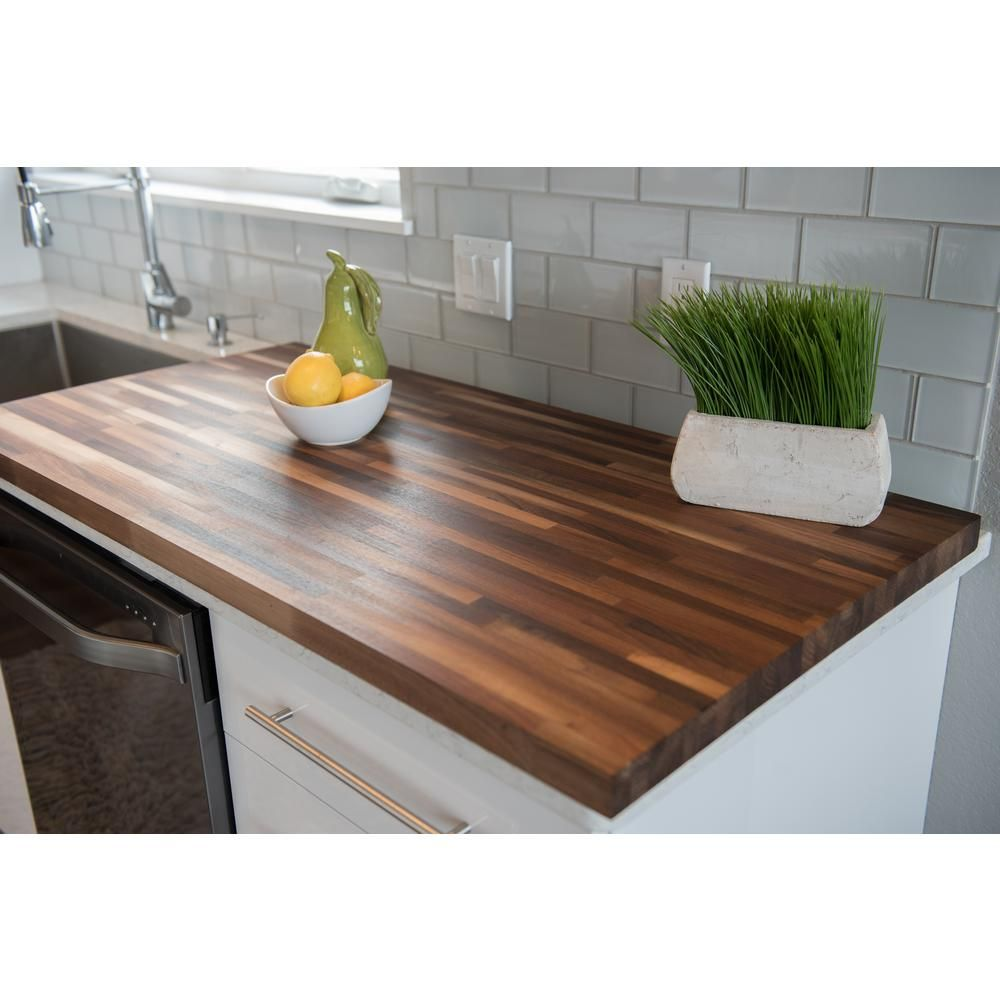 Hardwood Reflections 50 In L X 25 In D X 1 5 In T Wood Butcher Block Count Butcher Block Countertops Butcher Block Countertops Kitchen Butcher Block Kitchen