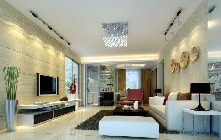 Resultado de imagen de salones iluminacion salon living room living room decor y interior - Iluminacion de salones ...
