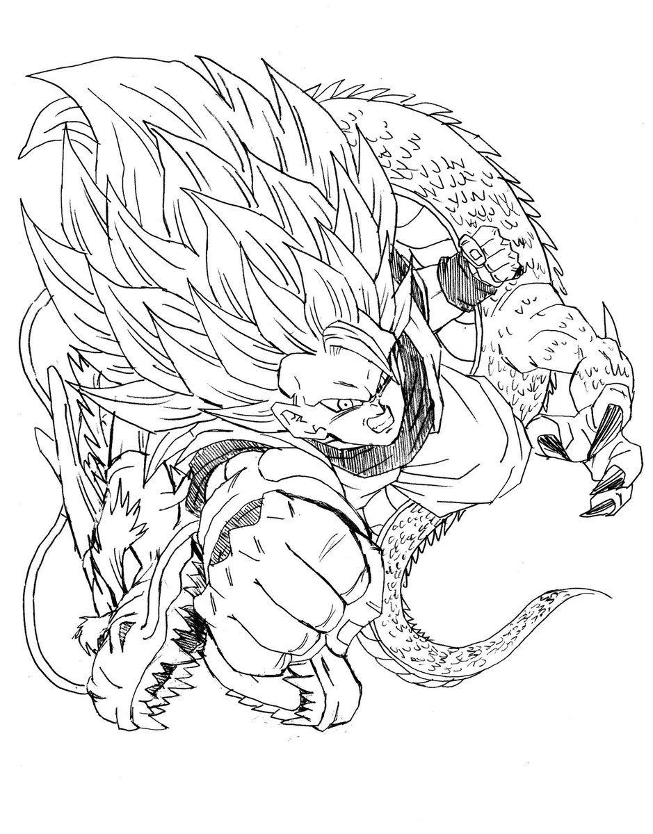 Goku SSJ3 Dragon Fist | yo | Pinterest | Goku, Dragons and Dragon ball