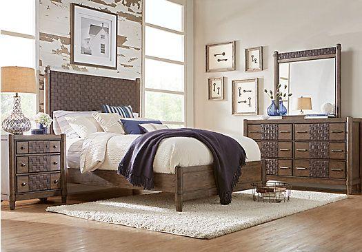 Edgewater Oak 5 Pc King Panel Bedroom Queen bedroom sets, Queen