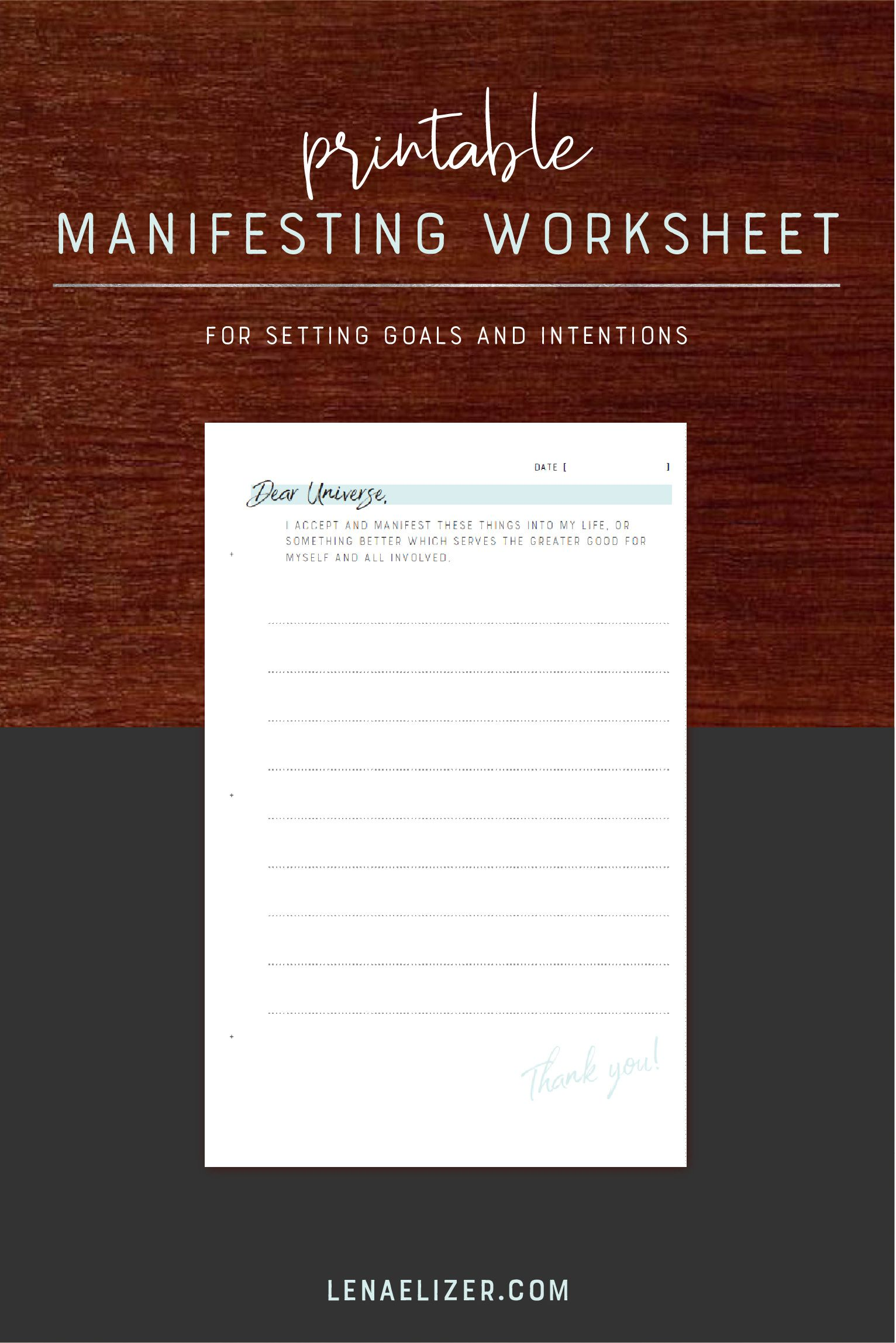 Full Moon Intention Setting Worksheet