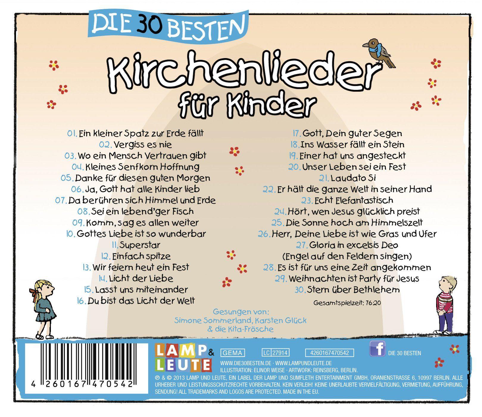 Die 30 Besten Kirchenlieder Fur Kinder Mit Allen Liedtexten Zum Mitsingen Amazon De Musik Kinder Liedtext Lied