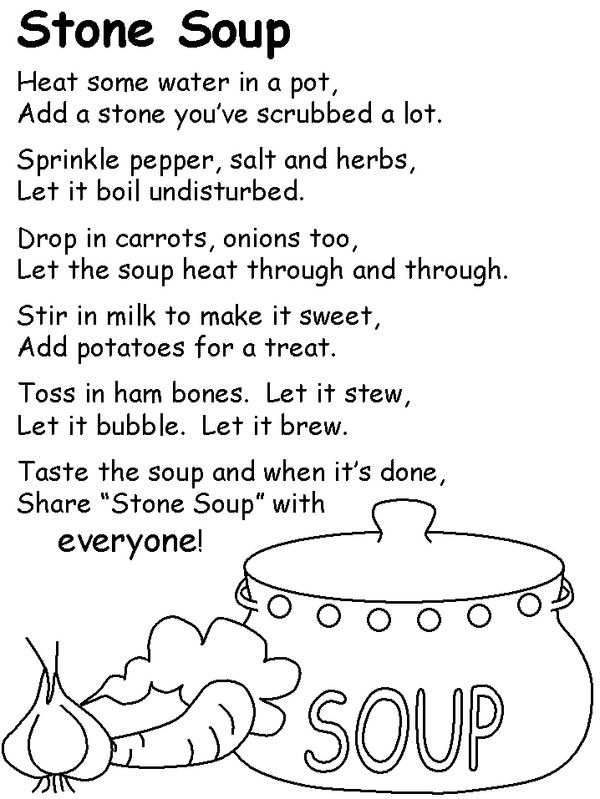 Unit 3 Week 1 The Real Story of Stone Soup Stone Soup poem – Stone Soup Worksheets