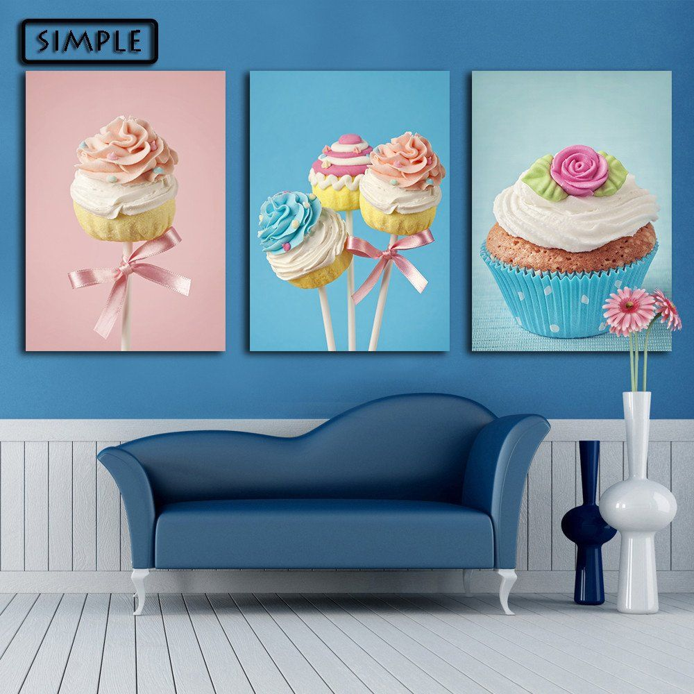 oil painting canvas sweets cake wall art decoration painting home decor modern wall picture for living - Home Decor Paintings
