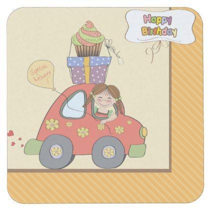 Happy Birthday Delivery Coasters