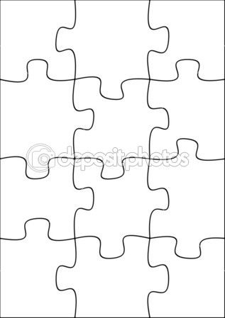 12 Piece Puzzle Template from i.pinimg.com