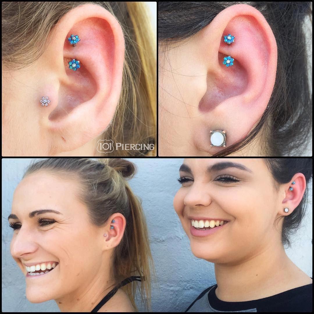 101 Piercing on Instagram Fresh Rook Piercings by 101bradlee Opal Flowers from industrialstrength