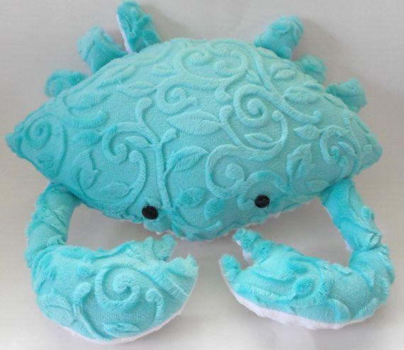 Minky Krabbe Kissen Nautische Dekoration Bett Kissen Kusten