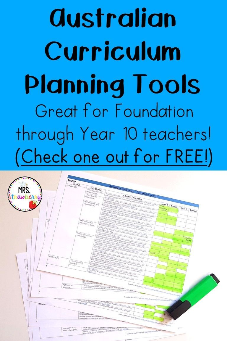 If You Re On The Lookout For Australian Curriculum Planning Tools T