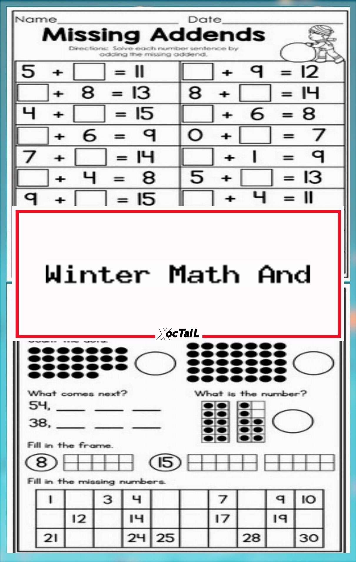 Winter Math And Literacy Packet No Prep 1st Grade In