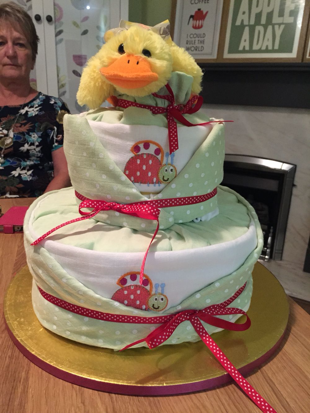 Duck nappy cake