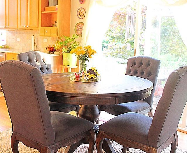 Artfullystagedabode S Gorgeous Dining Room Is One Of Our Favorites Shop The Dining Room Chairs Upholstered Dining Room Chairs Diy Dining Room Chair Cushions