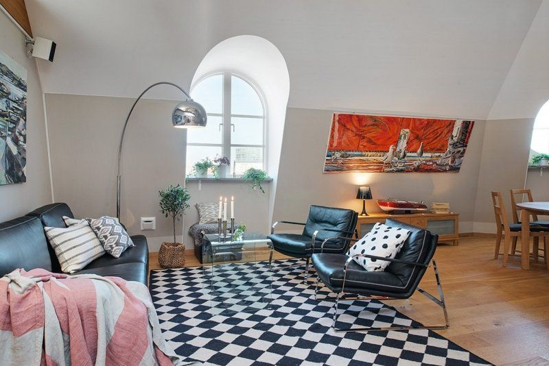 Scandinavian interior style of a charming apartment - living room