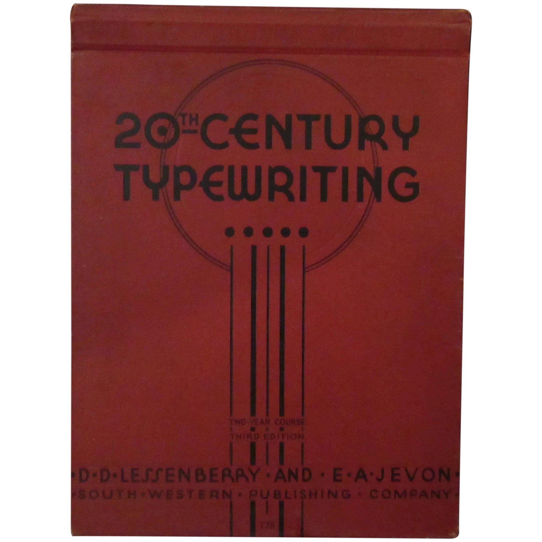 Vintage 1938 Hardbound Book 20th Century Typewriting Two Year Course 3rd Edition In 2020 Hardbound Book Hardbound Notations