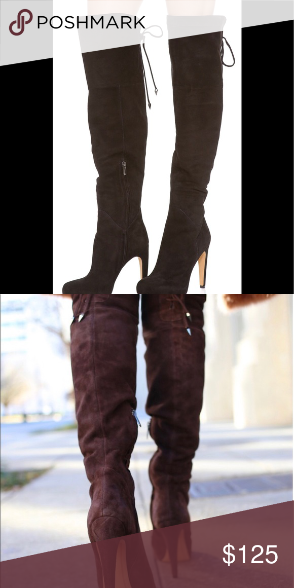 new images of exclusive range newest SAM EDELMAN KAYLA OVER THE KNEE BOOTS Velvety soft suede elevates ...