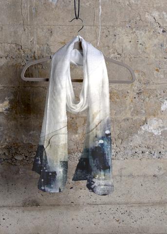 Cashmere Silk Scarf - Ivory petals by VIDA VIDA ACTn7C0Zf