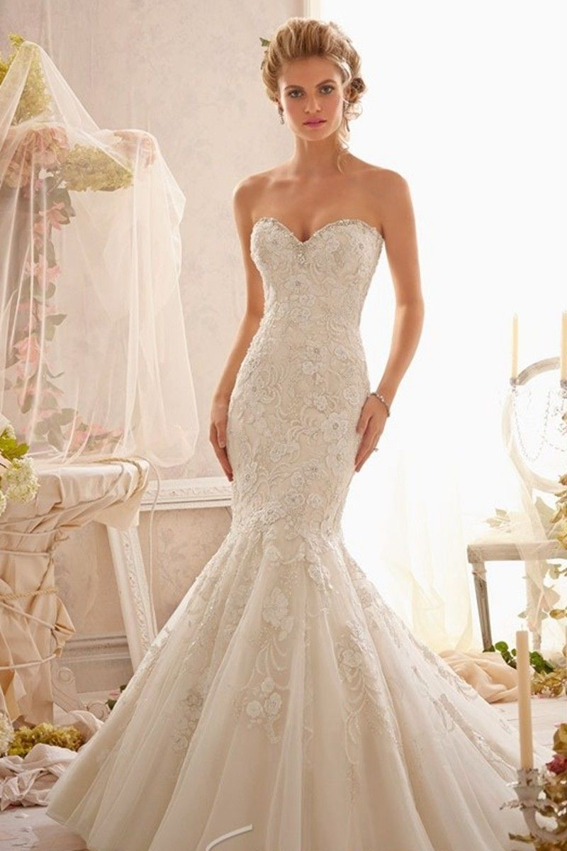 Alluring Sweetheart Neckline Lace And Taffeta Mermaid Wedding Dress Wedding Dress Br Wedding Dresses Taffeta Mori Lee Wedding Dress Wedding Dress Alterations [ 1200 x 800 Pixel ]
