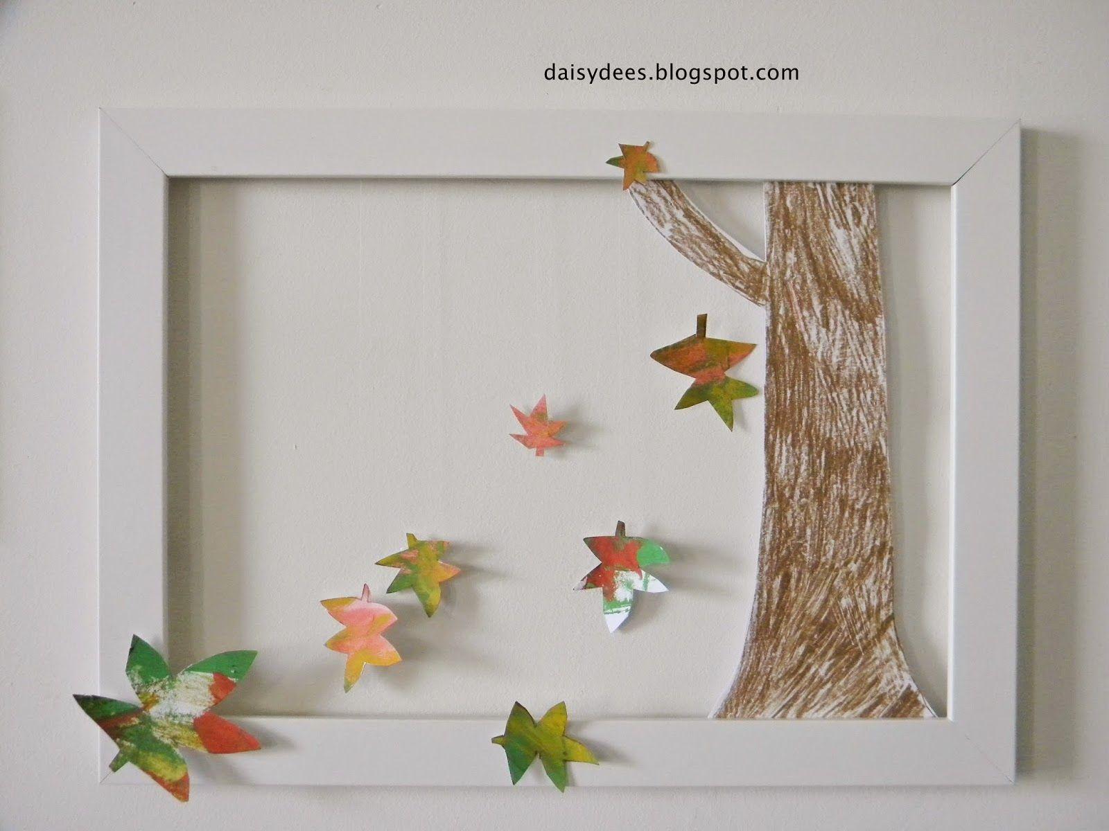 daisyd es bricolage d 39 automne cadre facile r aliser bricolage automne pinterest. Black Bedroom Furniture Sets. Home Design Ideas