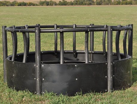 how to build a round bale feeder