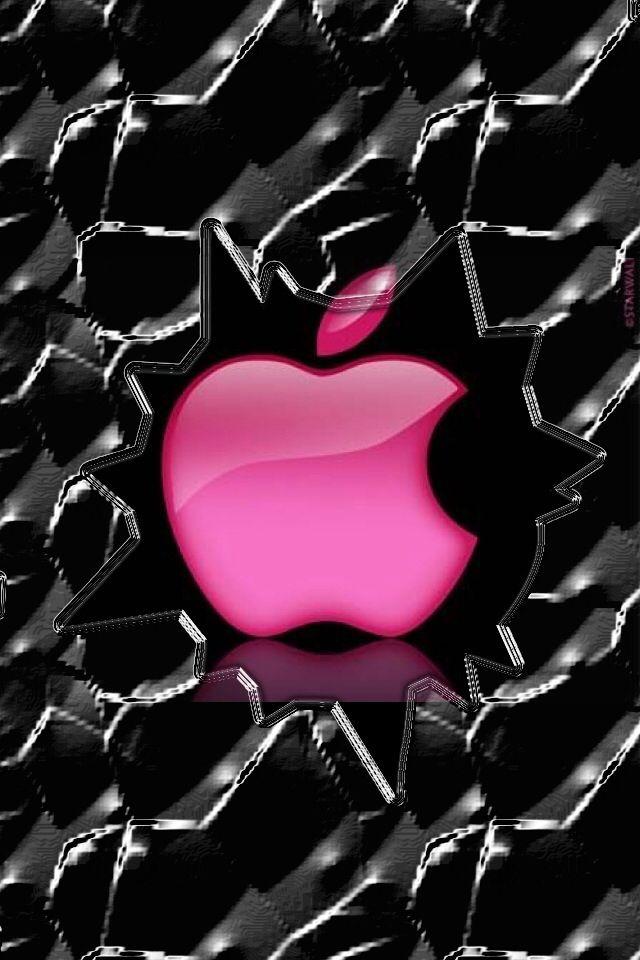 Lock screen saver broken glass pink apple phone screens apple wallpaper iphone apple - Cool screensavers for cracked screens ...