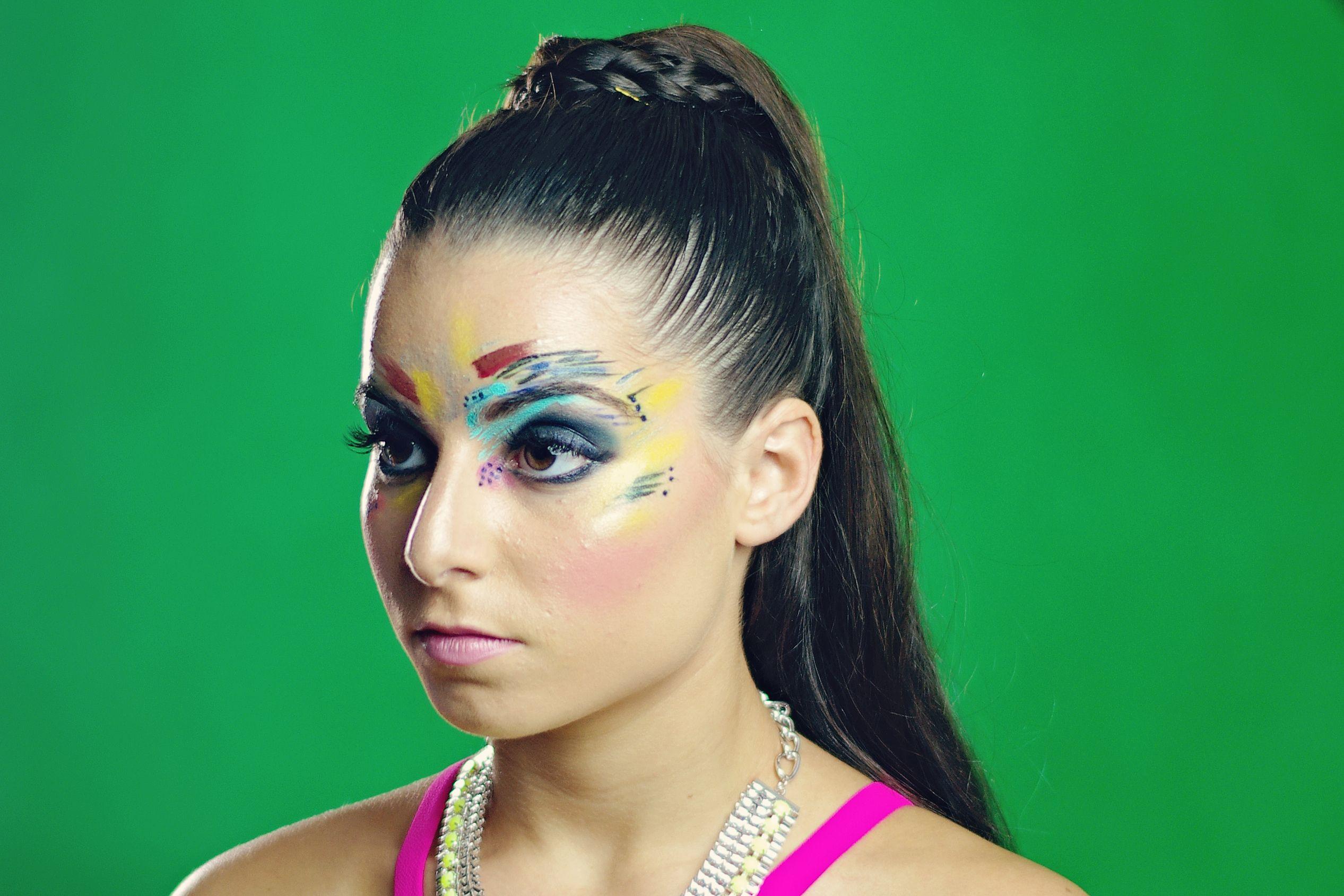 Creative makeup using Temptu Airbrush and Makeup Forever
