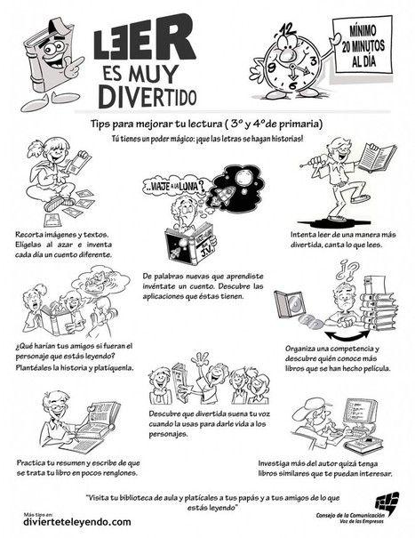 Tips para mejorar tu lectura ( 3° y 4° de primaria ) | Competencia lingüística | Scoop.it