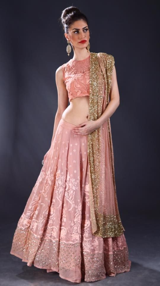 Astha Narang Sparkly Embroidered #Lehenga. | Made in India | Pinterest