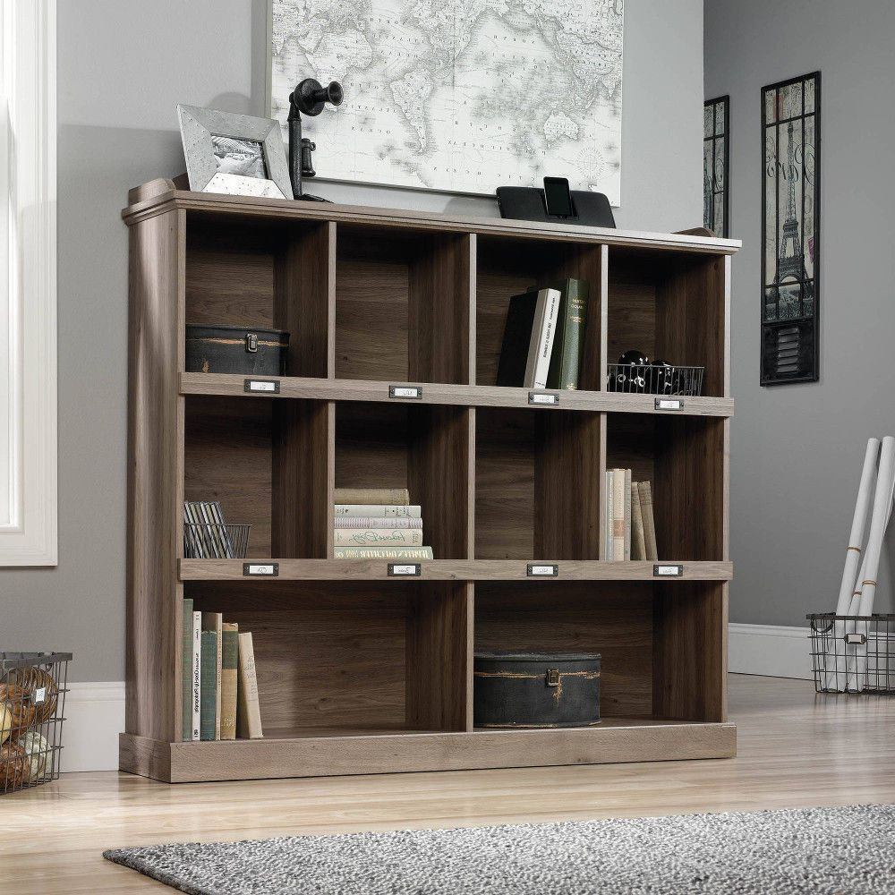 Wood Rustic Bookcase Lawyer Office Organizer Home Bookshelf