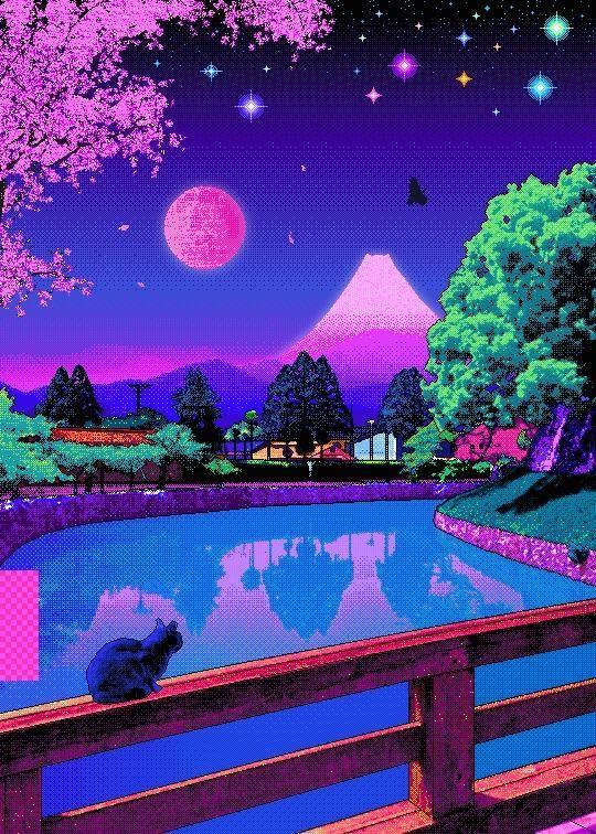 n i g h t t i m e Vaporwave art, Art wallpaper
