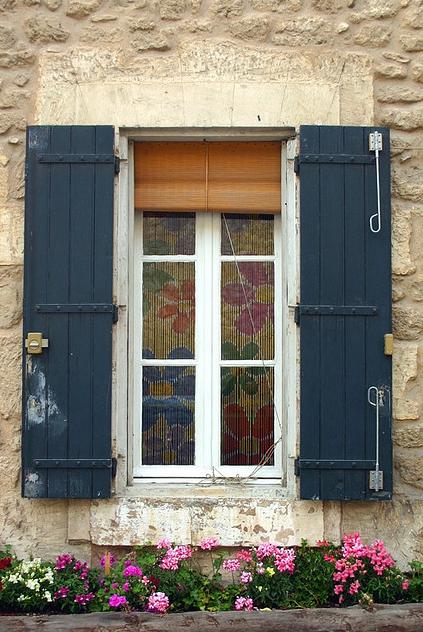 Menebres France Exterior Shutters Diy Tan House Blue Shutters