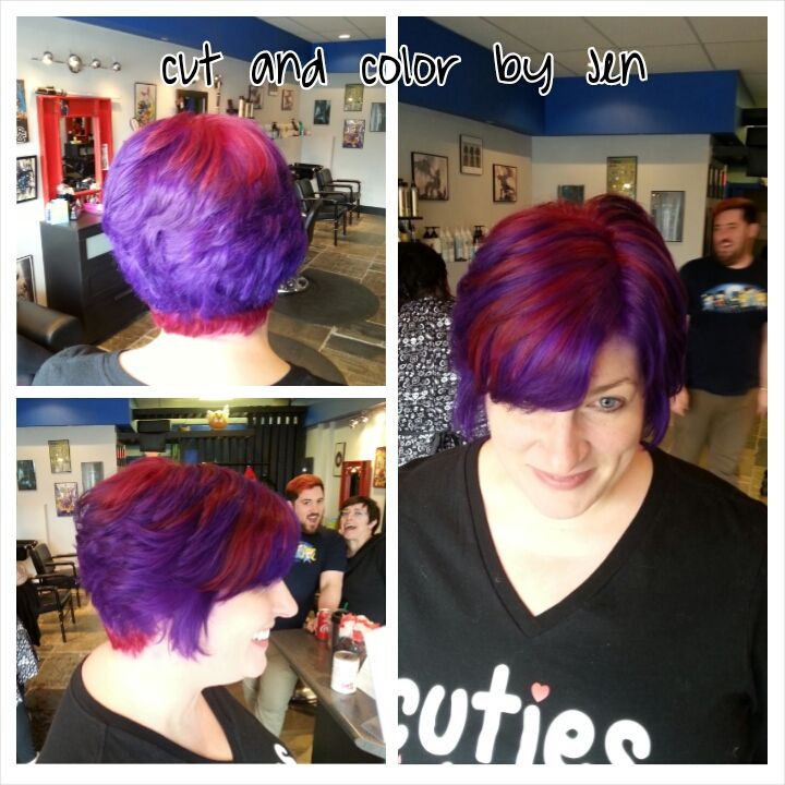 Red And Purple Pravana Hair By Jen Cleroux B Bombshell Salon New Westminster Bc Where Geek Is Chic Hair Beauty Chic Beauty