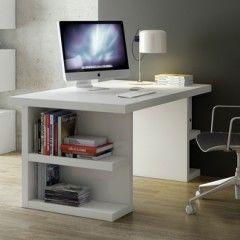bureau blanc moderne pour adulte ado enfant avec rangement etagre
