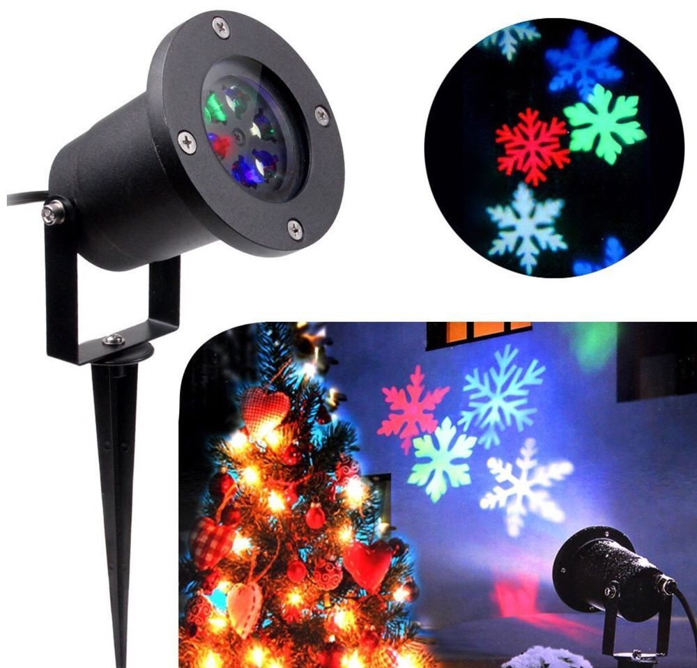 christmas projector lights indoor led light waterproof snowflake outdoor ebay - Led Christmas Projector