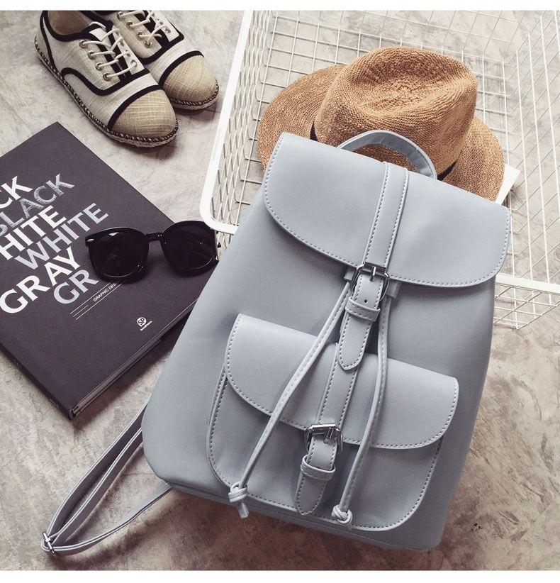 Backpack Women High Soft Pu Leather Backpack Back Pack For Women Vintage Backpack School Bags For Teenage Girls