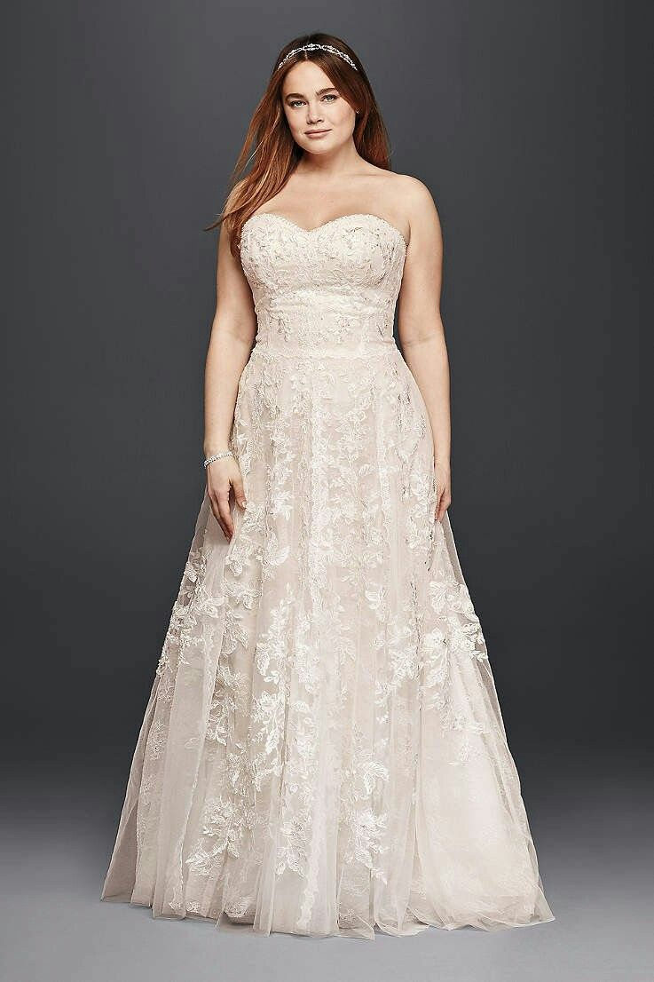 Best 25 plus size wedding ideas on pinterest plus size wedding plus size wedding dresses bridal gowns davids bridal more ombrellifo Images